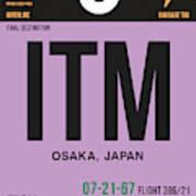 Itm Osaka Luggage Tag I Art Print