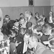 Jack Ruby With Lawyer Outside Court Art Print