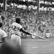 Jackie Robinson At 1955 World Series Art Print