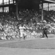 Jackie Robinson At Ebbets Field, 1956 Art Print
