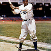 Jackie Robinson Of The Brooklyn Dodgers Art Print