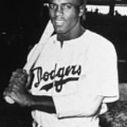 Jackie Robinson Rookie Dodgers Portrait Art Print