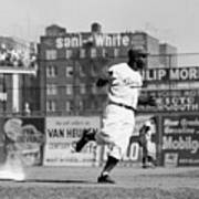 Jackie Robinson Rounds The Bases Art Print