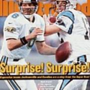 Jacksonville Jaguars Qb Mark Brunell And Carolina Panthers Sports Illustrated Cover Art Print