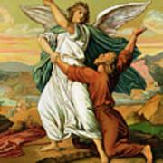Jacob Wrestiling With The Angel  Art Print
