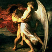 Jacob Wrestling With The Angel, 1865  Art Print