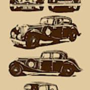 Jaguar Mark Iv Ss 2.5 Saloon Art Print