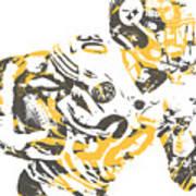 James Connor Pittsburgh Steelers Pixel Art 3 Art Print