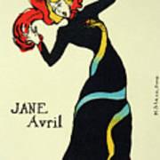 Jane Avril, 1899. Artist Henri De Art Print
