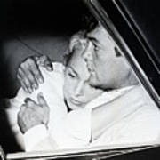 Janet Leigh And Tony Curtis Art Print