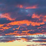January Sunset - Vertirama 3 Art Print