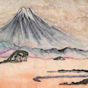Japan Art And Mount Fuji - Suzuki Kiitsu In Color By Sawako Utsumi Art Print