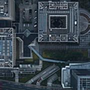 Japan, Tokyo, Aerial View Of Shinagawa Art Print