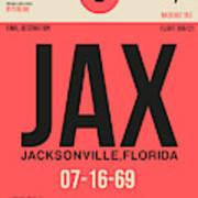 Jax Jacksonville Luggage Tag I Art Print