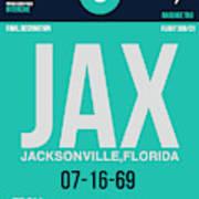 Jax Jacksonville Luggage Tag II Art Print