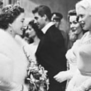 Jayne Mansfield Meeting Queen Elizabeth Art Print
