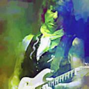 Jeff Beck, Love Is Green Art Print