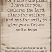 Jeremiah 29 11 Art Print