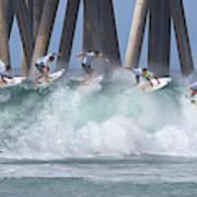 Jeremy Flores Surfing Composite Art Print
