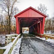 Jericho Covered Bridge Snow Art Print