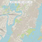 Jersey City New Jersey Us City Street Map Art Print