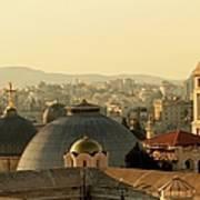 Jerusalem Churches On The Skyline Art Print
