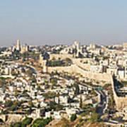 Jerusalem City Wall From A Distance Art Print