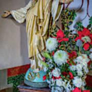 Jesus Christ With Flowers Art Print