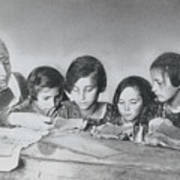 Jewish Teacher With Her Girl Students Art Print