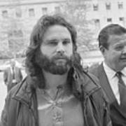 Jim Morrison Walking To Extradition Art Print