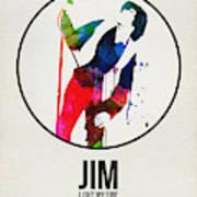 Jim Watercolor Poster Art Print