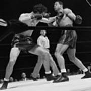 Joe Louis And Billy Conn In Boxing Match Art Print