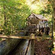 John Cable Mill In Cades Cove Historic Area In The Smoky Mountains Art Print