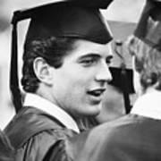 John F. Kennedy Jr. At Graduation Art Print