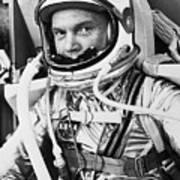 John Glenn In A Spacesuit Before Takeoff Art Print