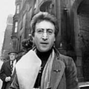 John Lennon Returning From Florist Shop Art Print