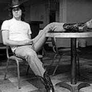 John Travolta, With His Hat And Boots Art Print