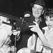 John Wayne And Sophia Loren Gun Play Art Print