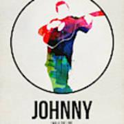 Johnny Cash Watercolor Art Print