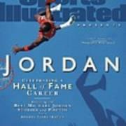 Jordan Celebrating A Hall Of Fame Career Sports Illustrated Cover Art Print
