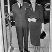 Joseph P. Kennedy With Daughter-in-law Art Print