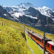 Jungfraubahn, Swiss Alps Art Print