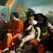 Jupiter  Mercury And Virtus Or Virgo  Art Print