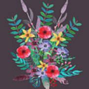 Just Flora II Art Print