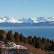 Kachemak Bay And Homer Alaska Art Print