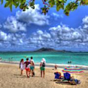 Kailua Beach Park Pu Uhalo Beach Oahu Hawaii Seascape Panorama Art Canvas Print