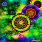 Kaleidoscope Moon For Children Gone To Soon Number - 3 Intensified  Art Print