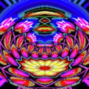 Kaleidoscopic Krystal Ball Art Print