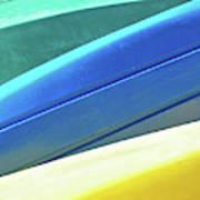Kayak Angles And Colors Abstract II Art Print