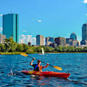 Kayaking On The Charles Art Print